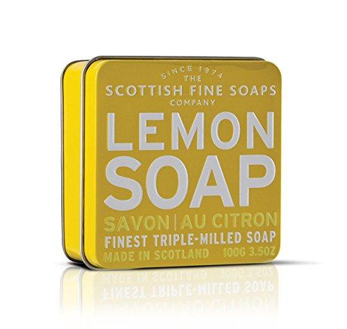 SAVON dans une boîte de savon fine écossais - citron 100 g