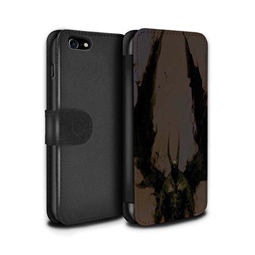Offiziell Chris Cold PU-Leder Hülle/Case/Tasche/Cover für Apple iPhone 7 / Raubtier/Jäger Muster / Wilden Kreaturen Kollektion Teufel/Tier