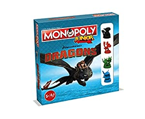 Winning Moves- Monopoly Junior Dragons 0236, versión Francesa