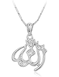 Beautiful Name Of Allah In Arabic Necklace And Muslim Pendant 48 cm chain