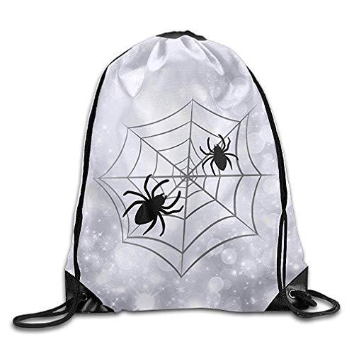 ZHIZIQIU Halloween Spider Web Unisex Gym Drawstring Shoulder Bag Backpack String Bags