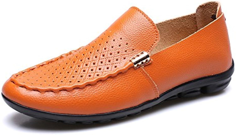Sunny&Baby Zapatos clásicos de los hombres de cuero genuino transpirable de goma suela plana suave informal holgazán...