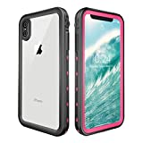 Wendapai iPhone XS Max wasserdicht Underwater Hülle, Durable Protective Case Defender Hülle Carrying Cell Telefon Hülle Pouch zum iPhone XS Max (Rosy)