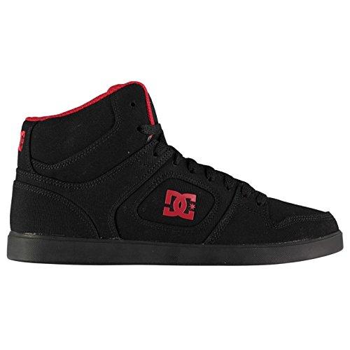 Rot Schuhe Dc-high-tops (Original Shoes DC UNION HIGH TOP Skate Schuhe Schwarz/Rot Herren Skateboarding-Sportschuhe Sneakers, schwarz/rot, (UK8) (EU42) (US9))
