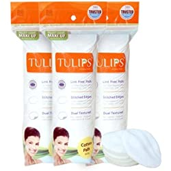Tulips Cotton Pads 50S Pack Of 3
