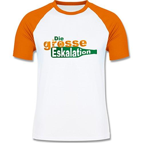 Festival - Die große Eskalation - zweifarbiges Baseballshirt für Männer Weiß/Orange