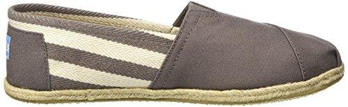 Toms Stripe University Classics Alpargata, Sneaker Uomo Grau (Dark Grey Stripe)