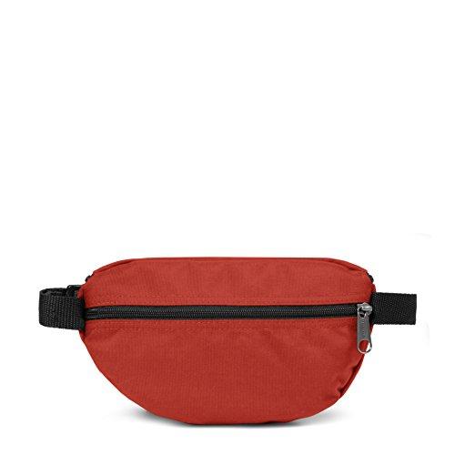 Eastpak Springer Marsupio Sportivo, 2 Litri, Nero (Black) Rosso (Terracotta Red)