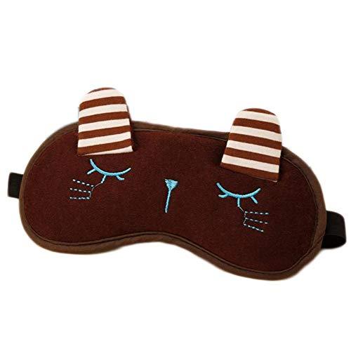 MaoDaAiMaoYi Netter Blau Kaninchen Aufgerichtete Ohren Augenmaske Damen Schlaf Augenmaske Kaninchen Augenmaske Mode Living Heizung Augenmaske 19 * 9Cm (Color : Braun, Size : One Size)
