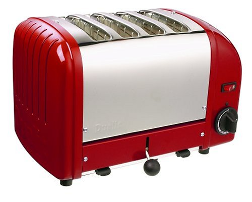 Dualit 4 Slice Toaster Rot 40353 **UK PLUG Livré avec adaptateur** (Toaster Slice 4 Dualit)