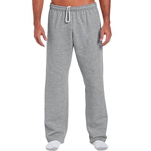 Gildan - Jogginghose mit offenem Beinabschluss / Sport Grey, XXL