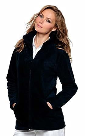 Ladies Full Zip Premium Fleece Jackets Sizes 8 to 22 SUITABLE FOR WORK & LEISURE (8 / XS, BLACK)