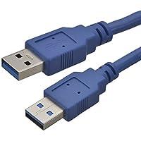 aricona N°447 - câble USB 3.0 premium haut débit 1 mètre avec connecteur A USB sur connecteur A, transfert de données jusqu'à 5 GBit/s, compatible USB 2.0 et 1.1