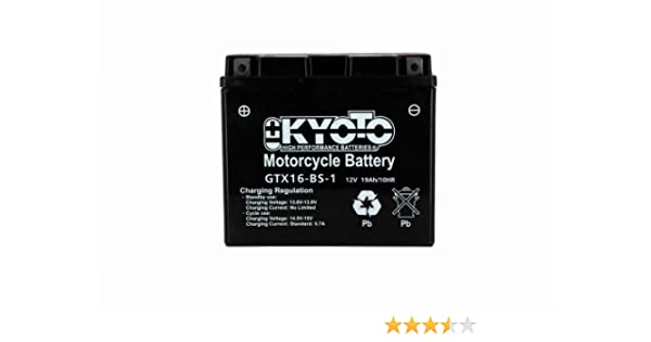 KYOTO Batterie Moto Ytx16-bs-1 Acide L 150mm W 87mm H 161mm 12v 14ah Acide 0,81l Ss Entr