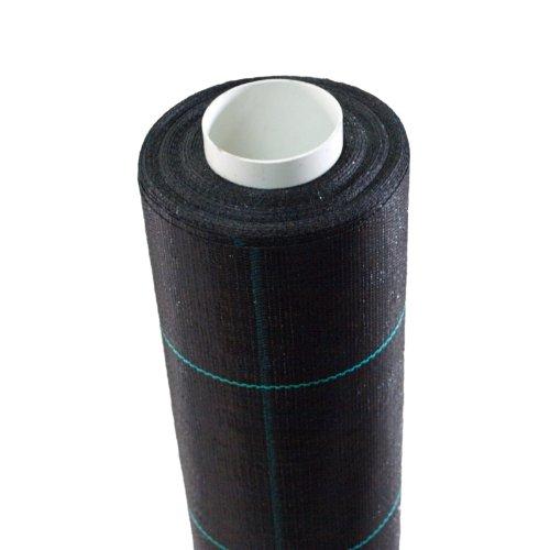 Aquagart®24m² Unkraut-Folie 1,65m breit Mulch-Vlies Bodengewebe I Garten Unkrautvlies 100g -