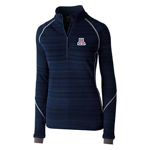 Ouray Sportswear NCAA Arizona Wildcats Women's Deviate Pullover Jacket, Navy, Medium
