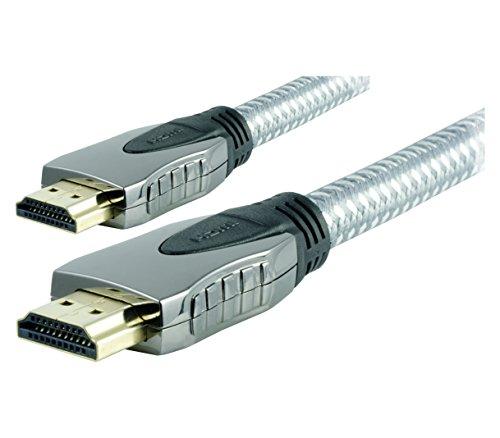 GE 12ft. UltraPro High Speed HDMI-Kabel mit Ethernet, geflochten, 1080p Full HD, 4K Ultra HD, 3D Ready, 87675 -