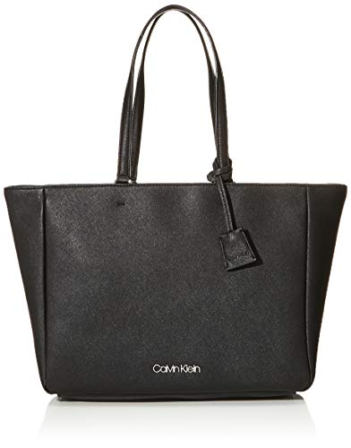 Calvin Klein Damen Worked Shopper Tote, Schwarz (Black), 13x27x47 Centimeters