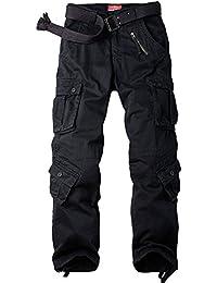 Jessie Kidden Men's Cotton Cargo Trousers Loose Hiking Multi-Pocket Pants 8 Pockets #7533