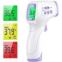 IDOIT 2 in 1 Termometro Professionale Termometro febbre infrarossi a distanza Termometro digitale frontale con letture immediate/Memoria 99 dati per Adulti, Neonati, Bambini