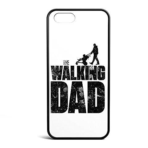 Smartcover Case The Walking dad z.B. für Iphone 5 / 5S, Iphone 6 / 6S, Samsung S6 und S6 EDGE mit griffigem Gummirand und coolem Print, Smartphone Hülle:Iphone 5 / 5S (Staffel 4 Walking Dead)