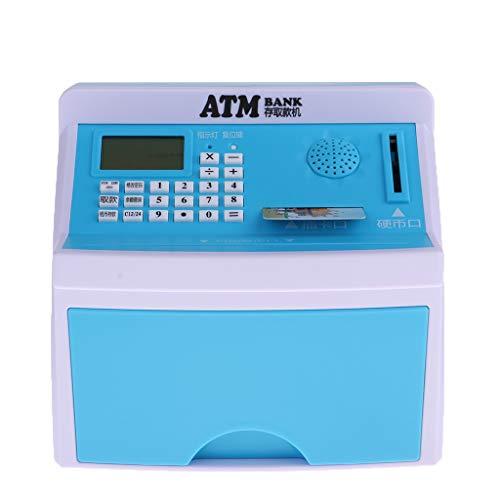 SM SunniMix Elektrische Spardose Geldautomat Digitale Sparbüch Sparschwein für Kinder & Erwachsen, mit Sound + LED + PIN Geldkarte + Alarm + Zählfunktio