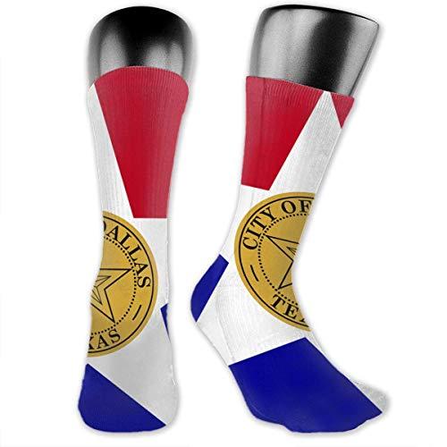 Of Dallas Unisex Casual Crew Socken Daily Sports Socken over the knee Socken ()