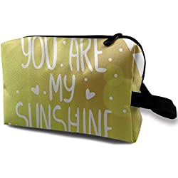 Travel Hanging Cosmetic Bags You Are My Sunshine Multi-functional Toiletry Makeup Organizer