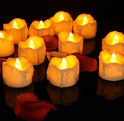 (LED Rauchlose elektronische Kerze Flammenlose Kerze Licht Simulation Tränen Kerze Halloween Religiöse Kerze Licht)