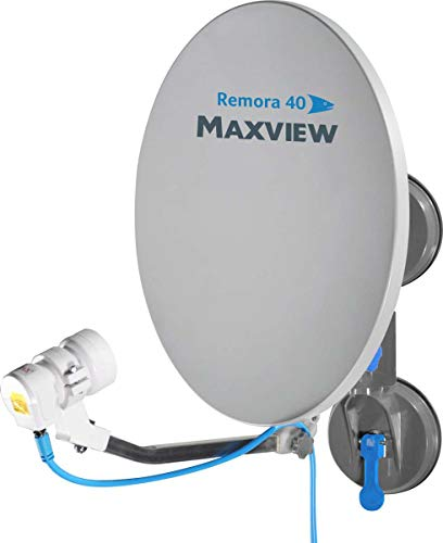 Maxview MXL026 Remora 40 Suction Mounted Portable Solid Satellite TV Dish Kit for Caravan, Motorhome, Truck, Boat and Horsebox