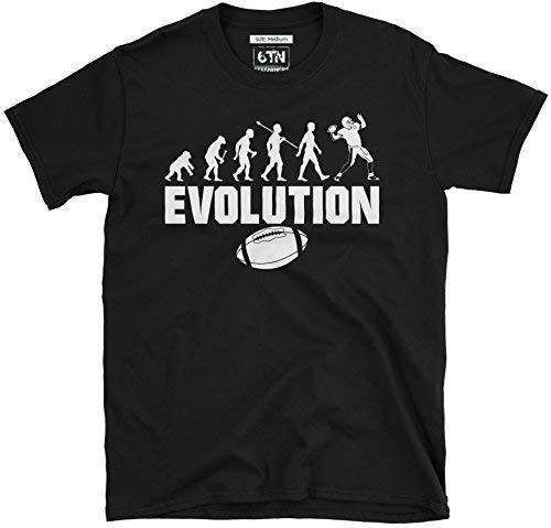 6TN Herren Evolution des American Football T-Shirt - Schwarz, Medium