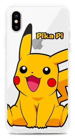 Art Design Funda para iPhone XR Pikachu Pokemon Pokeball Dibujo Animado Cartoon Carcasa de Moviles Caso Silicón
