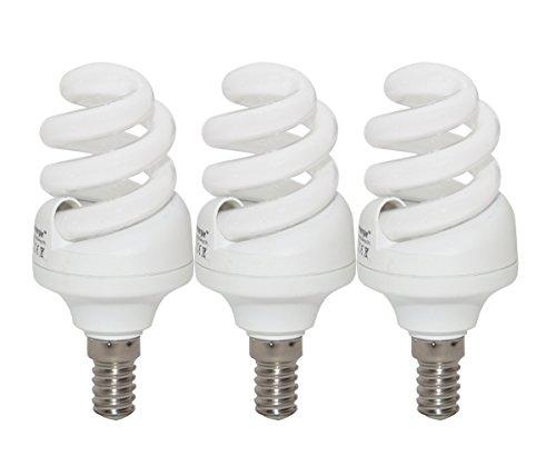 11W (= 65W) Energiesparend Spirale CFL 2700K warmweiß Farbe Leuchtmittel E14kleine Edison-Schraube SES Gap, 10Jahre, 10.000Stunden Kompaktleuchtstofflampe mit Pack Größen von Lowenergie Deckenleuchte, e14 11.0 wattsW -