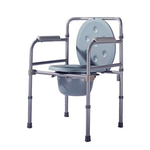 MyAou-commode Chaise de la Chaise de la Personne âgée Chaise de la Personne âgée Femme Enceinte handicapée Chaise de la Chaise Pliante âgée Toilette Mobile