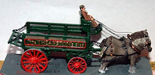 Langley Pferdekutsche Modelle Brauerei Dray oder schlicht Wagen OO Skala UNLACKIERT Kit G4 G4-kit