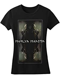 Marilyn Manson - Manson Reflectante - Camiseta Oficial Mujer