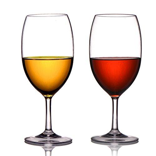 MICHLEY Copas de Vino Irrompibles, 100% Inastillables, Libres de BPA,
