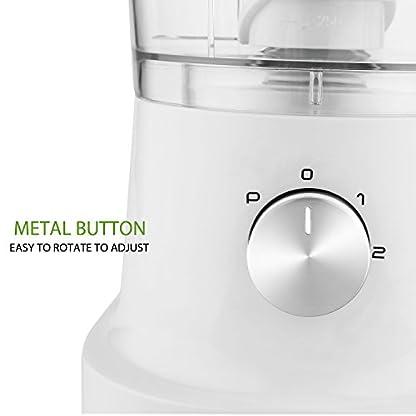 Buyi-World-Kompakt-Kchenmaschine-500W-Multifunktions-Elektrischer-Kchenreibe-3-Klinge-aus-Edelstahl-12L-Wei