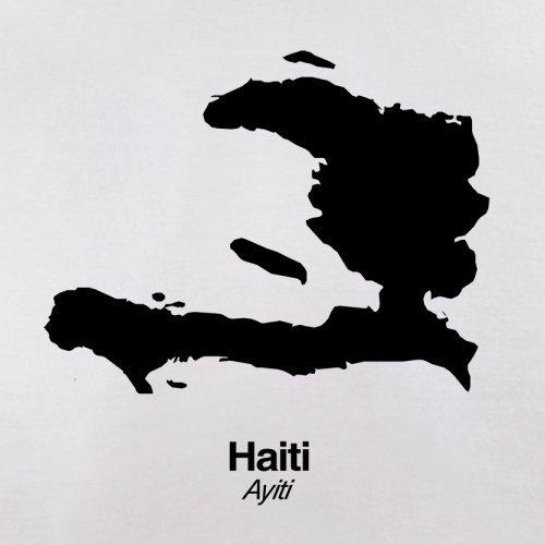 Haiti / Republik Haiti Silhouette - Herren T-Shirt - 13 Farben Weiß