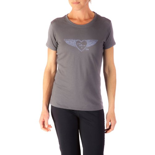 Mountain Khakis Damen Flying Herz Short Sleeve T-Shirt anthrazit