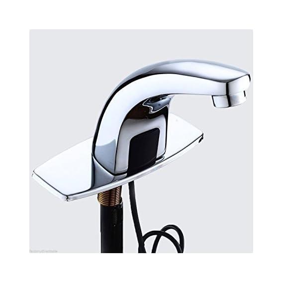 3G Decor Automatic Sensor Tap Touchless Bathroom Sink Faucet (Silver)