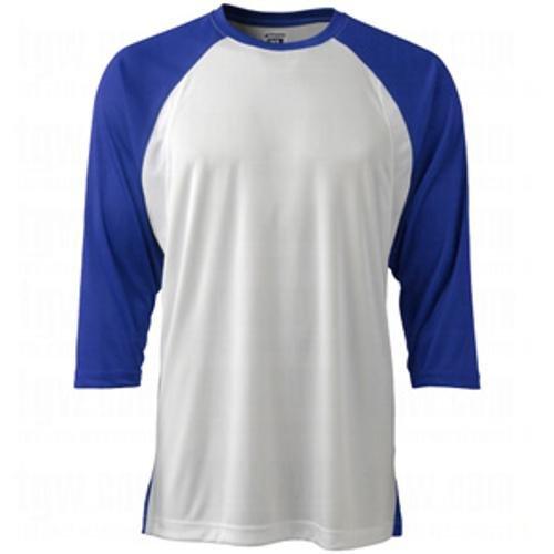 Champro Baseball-T-Shirt, 3/4-Ärmel, Gr. M, Weiß, Royal Sleeve, für Erwachsene -