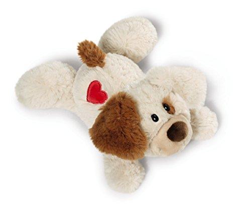 Nici 40170.0 – Love Hund mit Herz-Stickerei Hab Dich lieb 20 cm liegend
