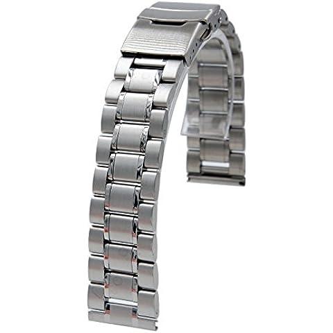 20mm Pulsera De Acero Inoxidable Del Reloj De La Correa De La Venda De Reloj + herramienta 2 pasadores para Samsung Gear S2 Classic platino SM-R7320 Smartwatch (plata B)