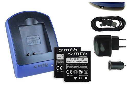 2 Akkus + Ladegerät (Netz+Kfz+USB) für Ricoh Action Cam WG-M1 / Pentax MX-1, X90 / Sigma DP Merril.. - s. Liste
