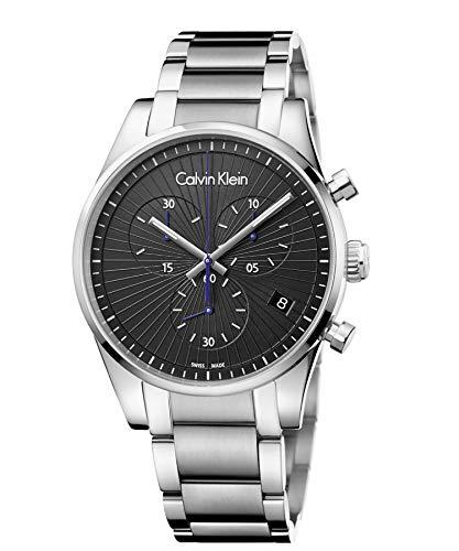 Calvin Klein Reloj Cronógrafo para Hombre de Cuarzo con Correa en Acero Inoxidable K8S27141