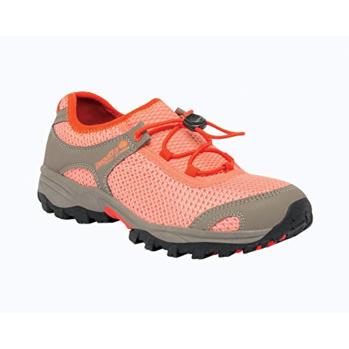 Regatta Girls Platipus Junior Breathable Walking Shoes Red RKF348 Rouge
