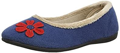 Padders Womens Happy Slippers 464/54 Blue 3 UK, 36 EU