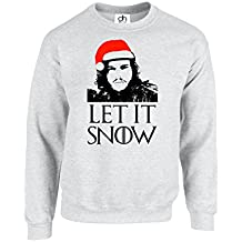 Let It Show Size L Secret Santa Gift Xmas Game of Thrones Inspired You Know Nothing Jon Snow Unisex Winter is Coming Jumper Sweatshirt Sweater Pullover