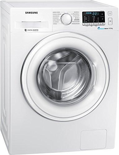 Samsung WW80J5435DW/EG Waschmaschine Frontlader / 8kg / 85 cm Höhe / SchaumAktiv-Technologie / FleckenIntensivDigital / Inverter Motor